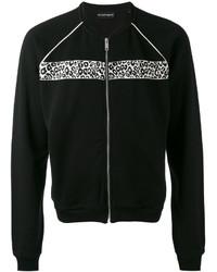Jersey con cremallera negro de Alexander McQueen