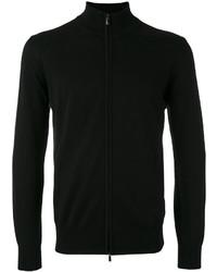 Jersey con cremallera negro de Canali