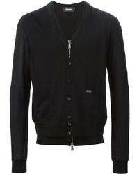 Jersey con cremallera negro de DSQUARED2