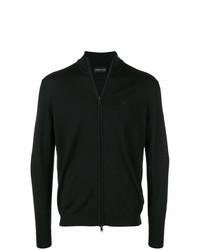 Jersey con cremallera negro de Emporio Armani