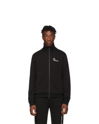 Jersey con cremallera negro de Moncler
