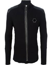 Jersey con cremallera negro de Philipp Plein