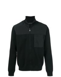 Jersey con cremallera negro de Prada