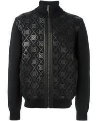 Jersey con cremallera negro de Versace