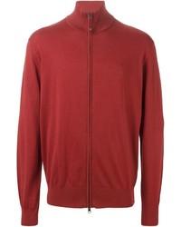 Jersey con cremallera rojo