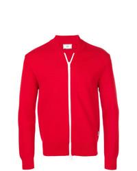 Jersey con cremallera rojo de AMI Alexandre Mattiussi
