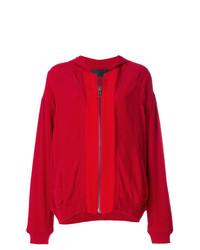 Jersey con cremallera rojo de Haider Ackermann