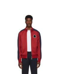 Jersey con cremallera rojo de Moncler