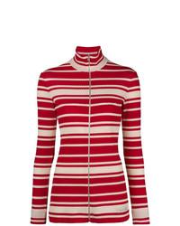 Jersey con cremallera rojo de Prada