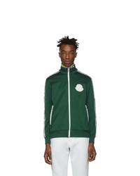 Jersey con cremallera verde de Moncler