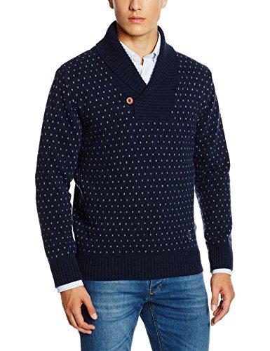 Jersey con cuello chal azul marino de El Ganso