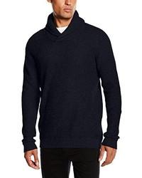 Jersey con cuello chal azul marino de Jack & Jones