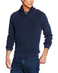 Jersey con cuello chal azul marino de Tommy Hilfiger