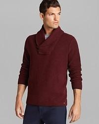 Jersey con cuello chal burdeos