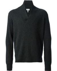 Jersey con cuello chal en gris oscuro de Brioni