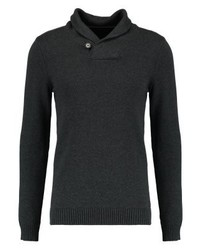Jersey con cuello chal en gris oscuro de Produkt