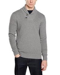 Jersey con cuello chal gris de Celio