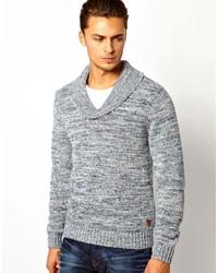Jersey con cuello chal gris de Pepe Jeans