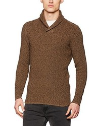 Jersey con cuello chal marrón de Selected Homme