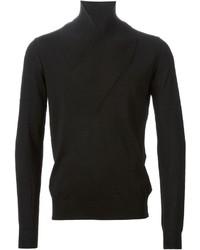 Jersey con cuello chal negro
