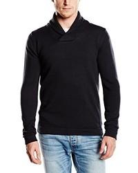 Jersey con cuello chal negro de Selected