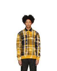 Jersey con cuello circular a cuadros amarillo de Versace