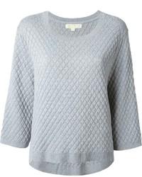 Jersey con cuello circular acolchado gris