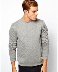 Jersey con cuello circular acolchado gris de Jack & Jones