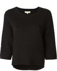 Jersey con cuello circular acolchado negro