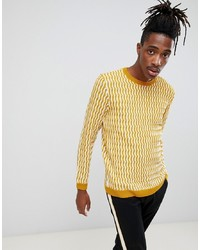 Jersey con cuello circular amarillo de ASOS DESIGN