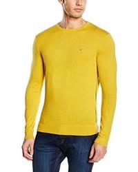 Jersey con cuello circular amarillo de Calvin Klein Tailored