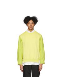 Jersey con cuello circular amarillo de Issey Miyake Men