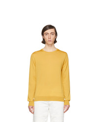 Jersey con cuello circular amarillo de Lanvin