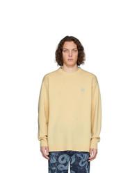 Jersey con cuello circular amarillo de Loewe