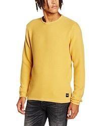 Jersey con cuello circular amarillo de ONLY & SONS