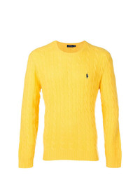 Jersey con cuello circular amarillo de Polo Ralph Lauren