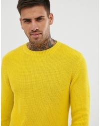 Jersey con cuello circular amarillo de Pull&Bear