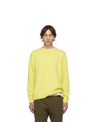 Jersey con cuello circular amarillo de Tibi