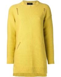 Jersey con cuello circular amarillo de Undercover