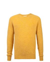 Jersey con cuello circular amarillo de YMC