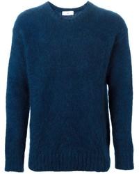 Jersey con cuello circular azul marino de Ami