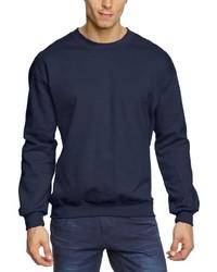 Jersey con cuello circular azul marino de Anvil