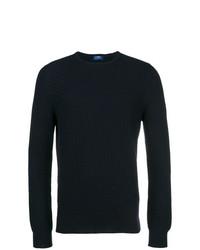 Jersey con cuello circular azul marino de Barba