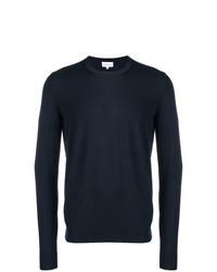 Jersey con cuello circular azul marino de Brioni