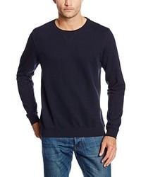 Jersey con cuello circular azul marino de Cortefiel