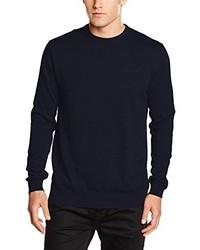 Jersey con cuello circular azul marino de Esprit