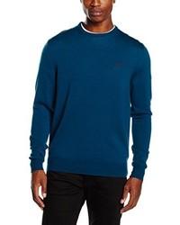 Jersey con cuello circular azul marino de Fred Perry