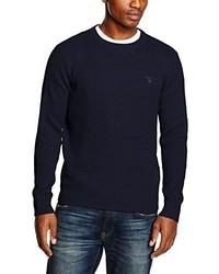 Jersey con cuello circular azul marino de Gant