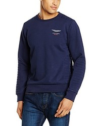Jersey con cuello circular azul marino de Hackett London