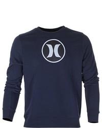 Jersey con cuello circular azul marino de Hurley